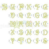Snowflake Applique Alphabet