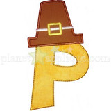 Pilgrim Hat Alphabet Machine Embroidery Design