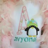 Penguin Alpha Machine Embroidery Design
