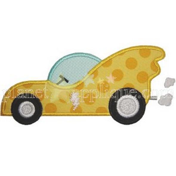 Super Hero Car Applique Machine Embroidery Design