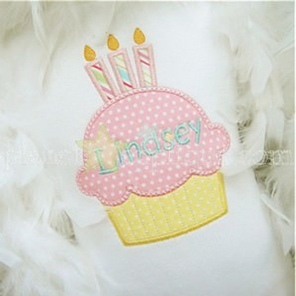Cupcake Candle Set Machine Embroidery Design