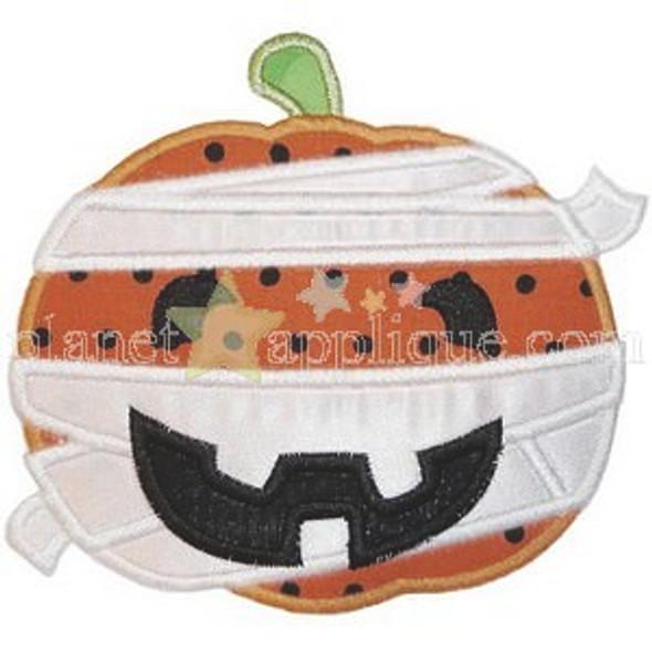 Mummy Pumpkin Machine Embroidery Design