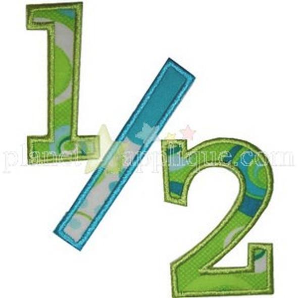 1/2 Birthday Machine Embroidery Design