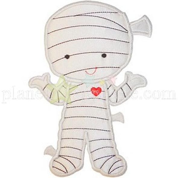 Cute Mummy Applique Machine Embroidery Design