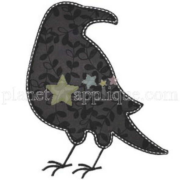 Crow Silhouette Machine Embroidery Design