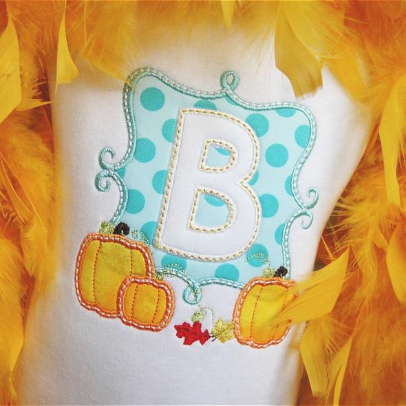 Pumpkin Patch Alpha Machine Embroidery Design