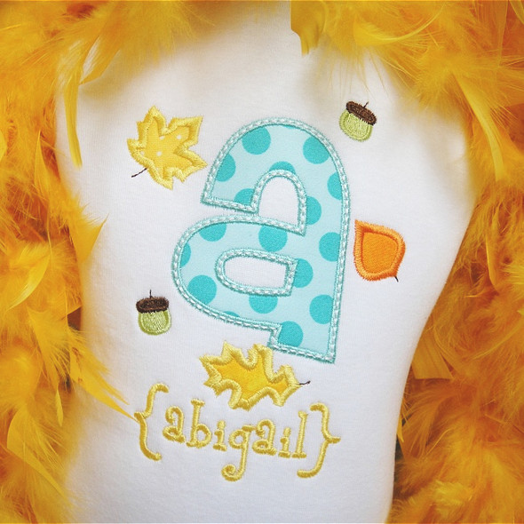 Fall Alpha Machine Embroidery Design