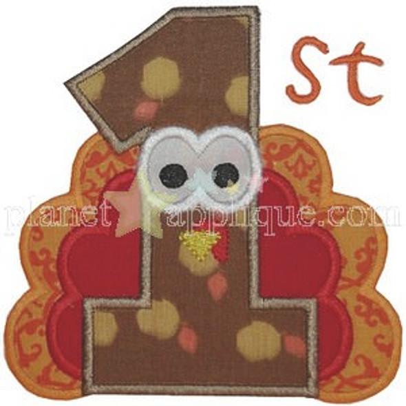 1st Thanksgiving Machine Embroidery Design