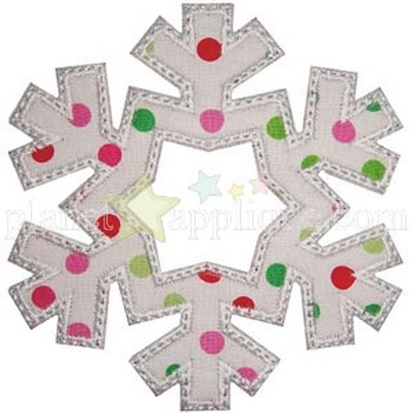 Snowflake 2 Applique Machine Embroidery Design