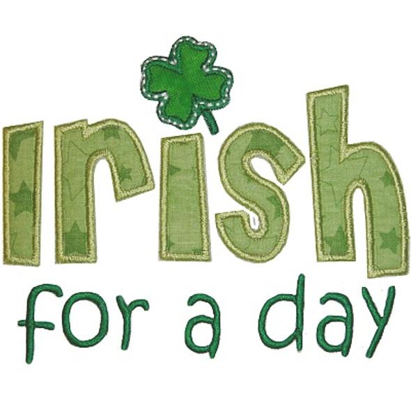 Irish For a Day Machine Embroidery Design
