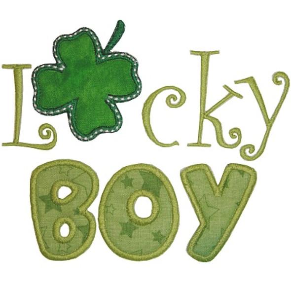 Lucky Boy Machine Embroidery Design