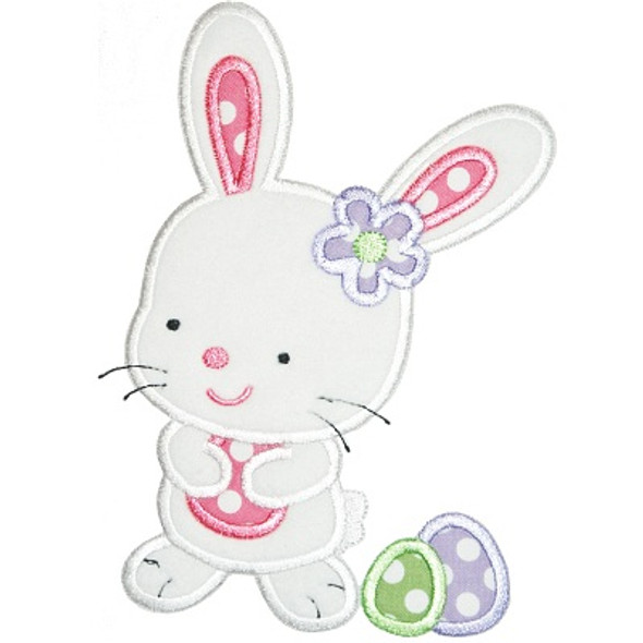 Easter Egg Bunny Machine Embroidery Design