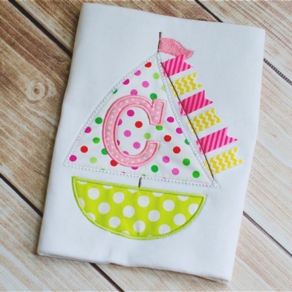 Sailboat Alpha Machine Embroidery Design