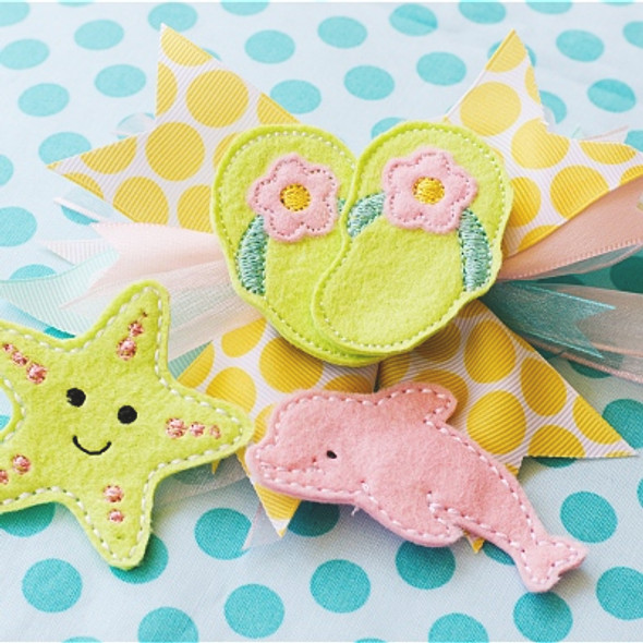 Under the Sea Hair Felties Machine Embroidery Design