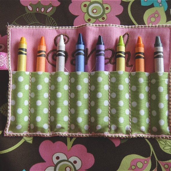 ITH Crayon Roll Machine Embroidery Design