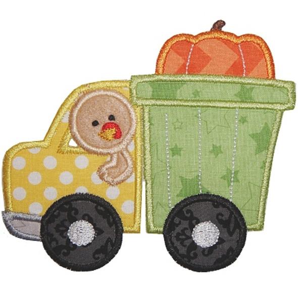 Dump Truck Turkey Machine Embroidery Design