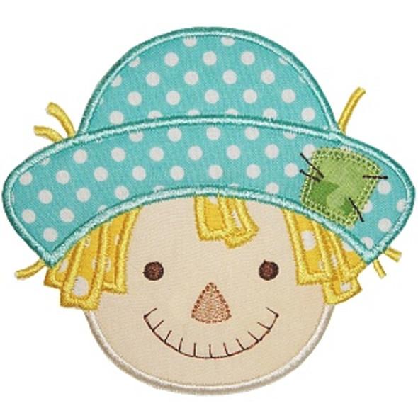 Scarecrow Boy Applique Machine Embroidery Design