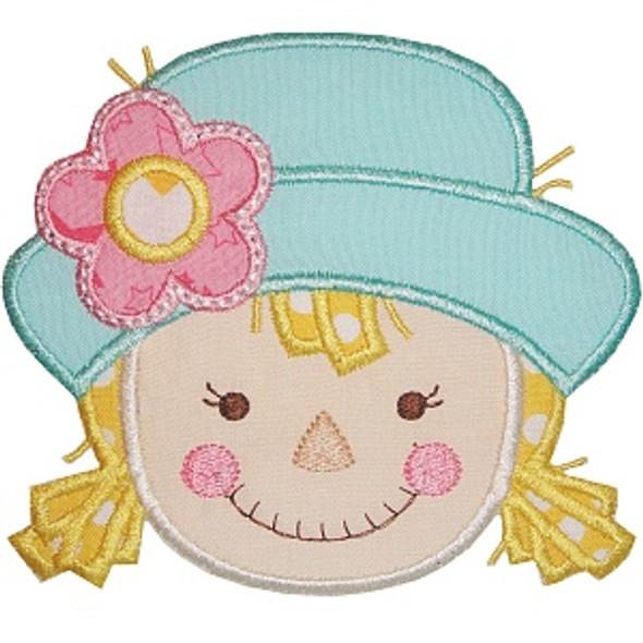 Scarecrow Girl Applique Machine Embroidery Design