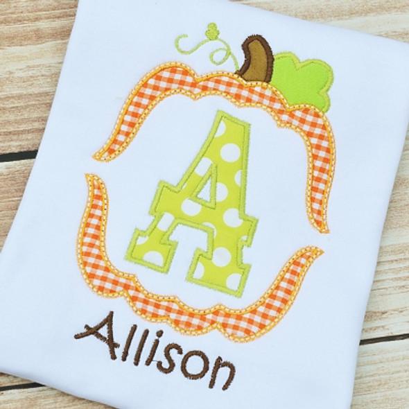 Pumpkin Frame Alpha Machine Embroidery Design