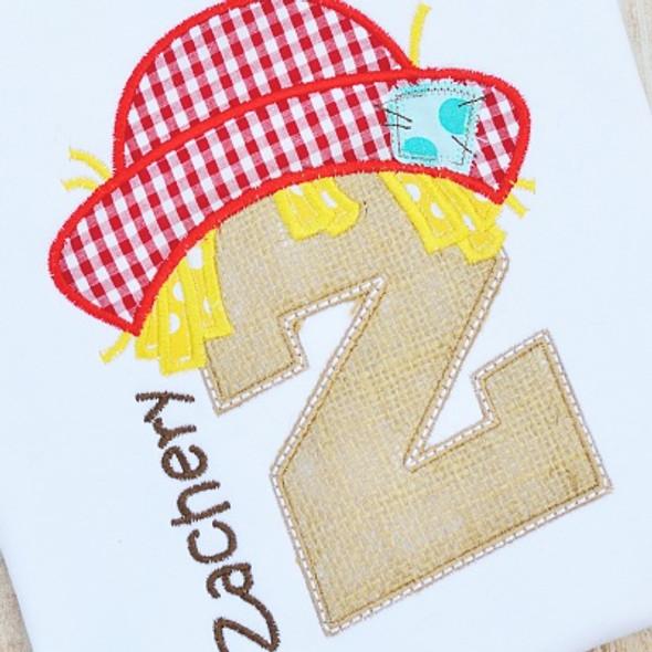 Scarecrow Alpha Machine Embroidery Design