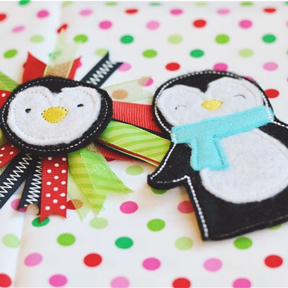 Penguin Feltie Set Machine Embroidery Design