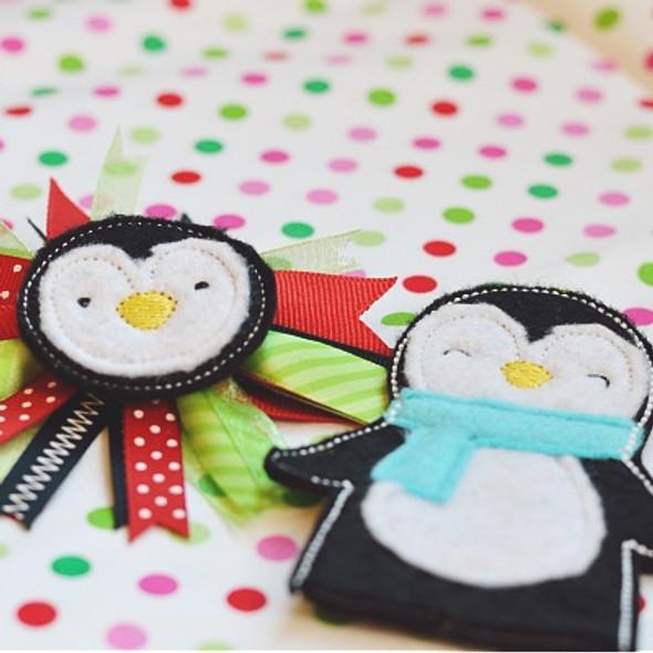 Penguin Feltie Set