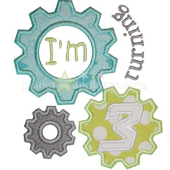 Robot Birthday Set Machine Embroidery Design