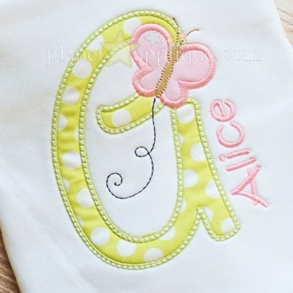 Butterfly Alpha Machine Embroidery Design