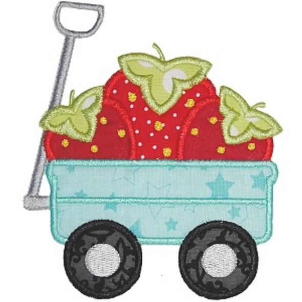 Strawberry Wagon Machine Embroidery Design