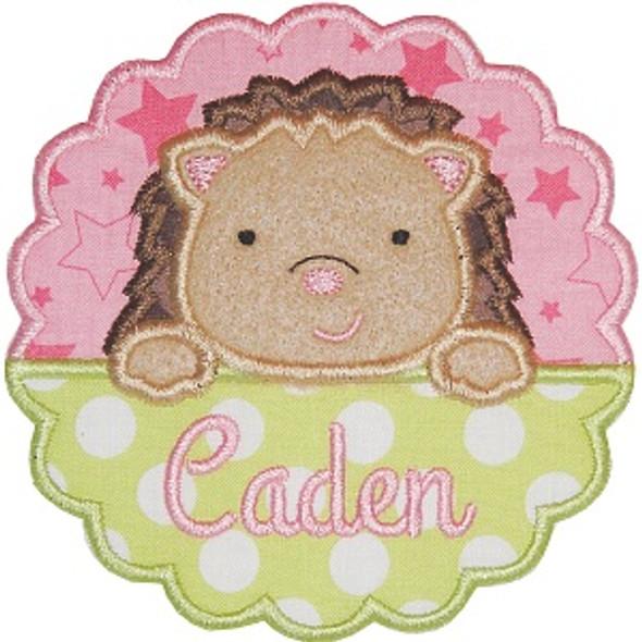 Hedgehog Patch Machine Embroidery Design