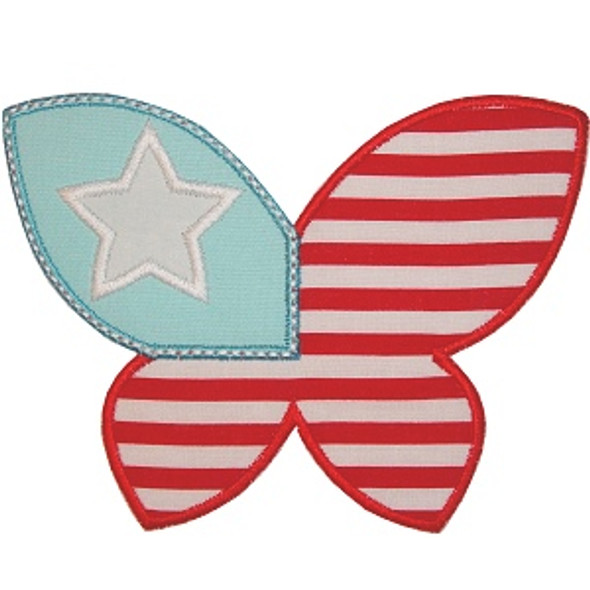 Patriotic Butterfly Machine Embroidery Design