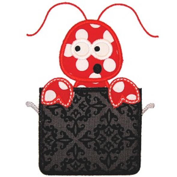 Lobster in Pot Applique Machine Embroidery Design