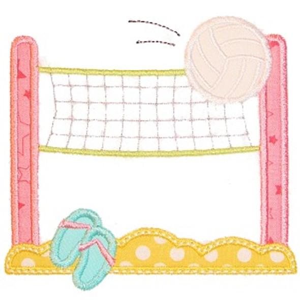 Volleyball Net Applique