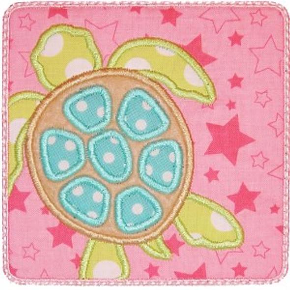Sea Turtle Patch Machine Embroidery Design