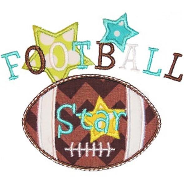 Football Star Applique