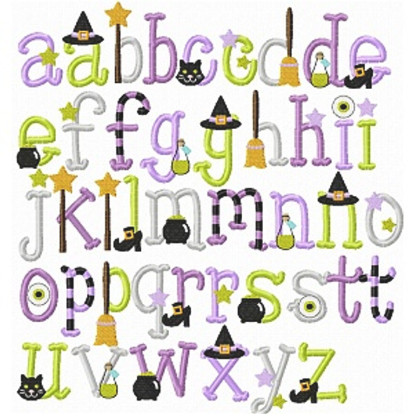 Bewitched Embroidery Font