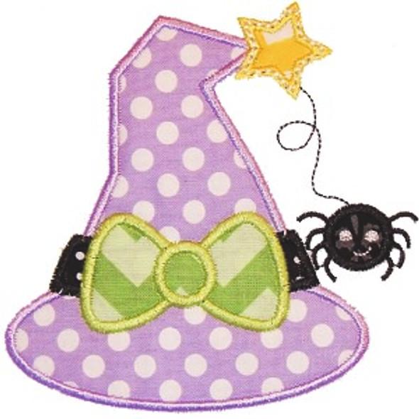 Witch Hat 2 Applique Machine Embroidery Design