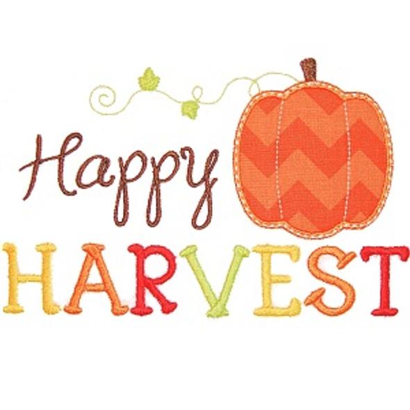 Happy Harvest Machine Embroidery Design