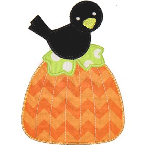 Pumpkin Crow Machine Embroidery Design