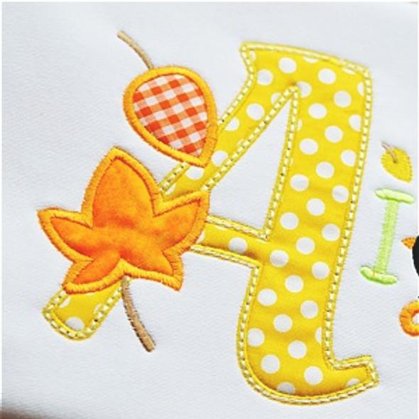 Autumn Alpha Machine Embroidery Design