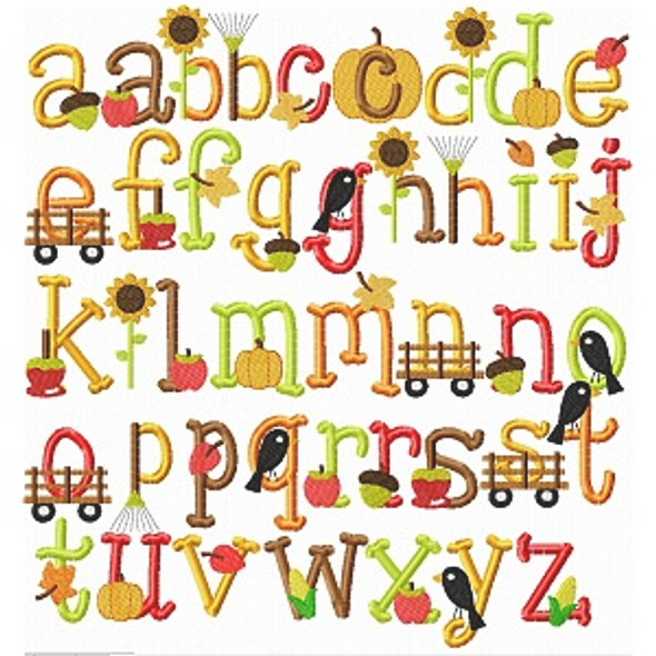 Fall Embroidery Font