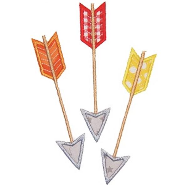 Three Arrows Machine Embroidery Design