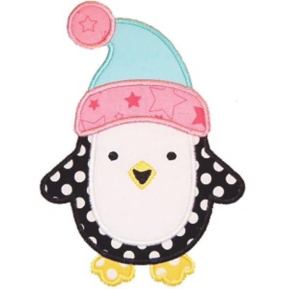 Toboggan Penguin Machine Embroidery Design