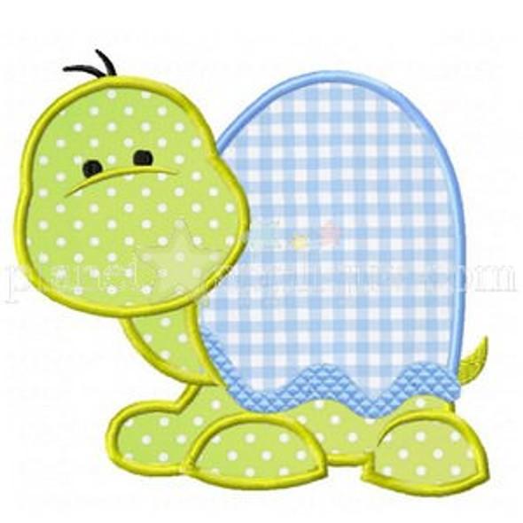 Sweet Turtle Applique Machine Embroidery Design