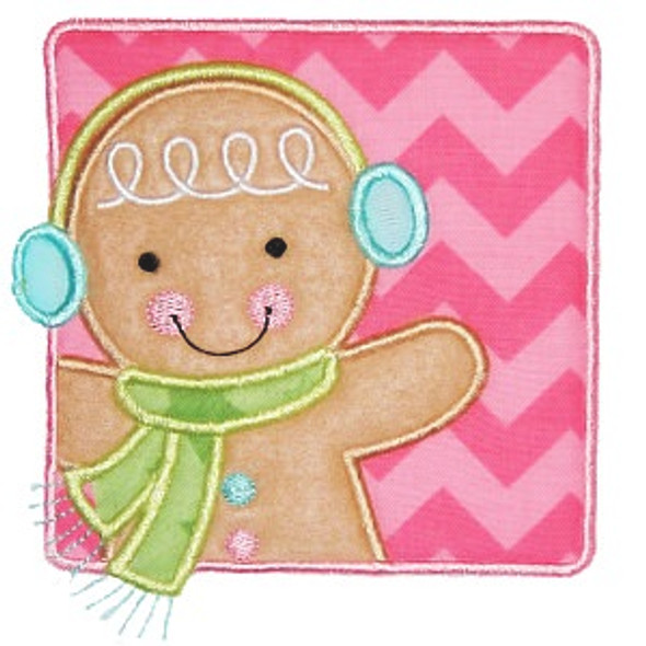Gingerman Patch Machine Embroidery Design