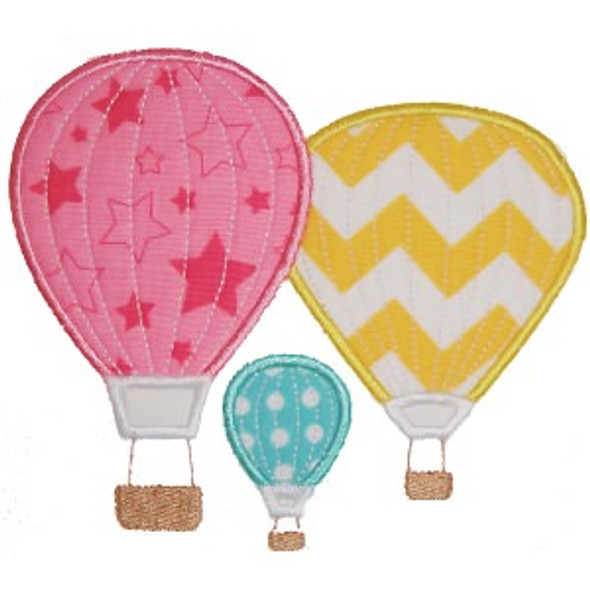 Hot Air Balloons Machine Embroidery Design
