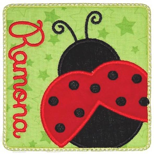 Ladybug Patch Machine Embroidery Design