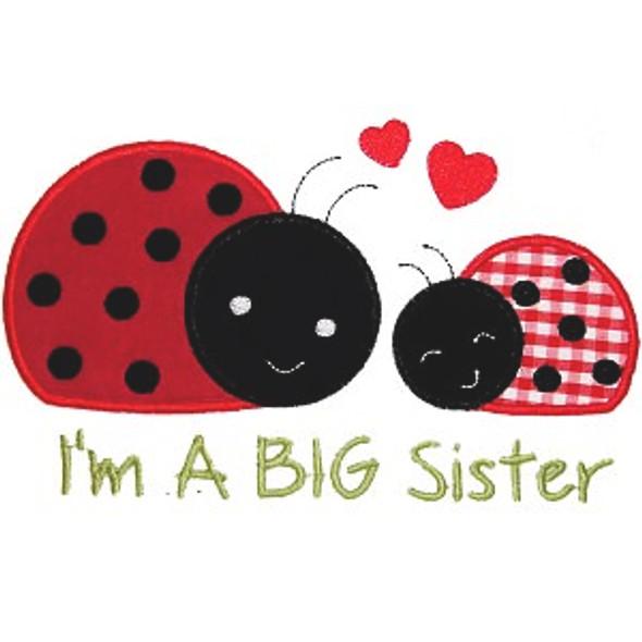 Sister Ladybugs Machine Embroidery Design