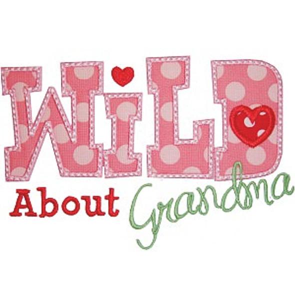 Wild About Grandma Machine Embroidery Design