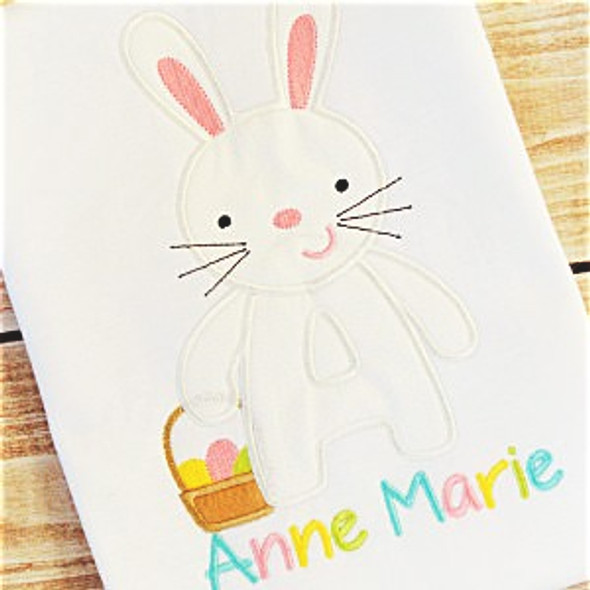 Easter Bunny Alpha Machine Embroidery Design